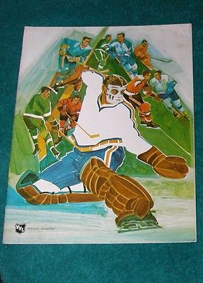WHL Magazine 1970/71 Seattle Totems VS Salt Lake City Eagles Hockey Program