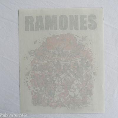 Ramones Rock N' Roll High School Color Album Cover T-shirt Heat Transfer Iron On