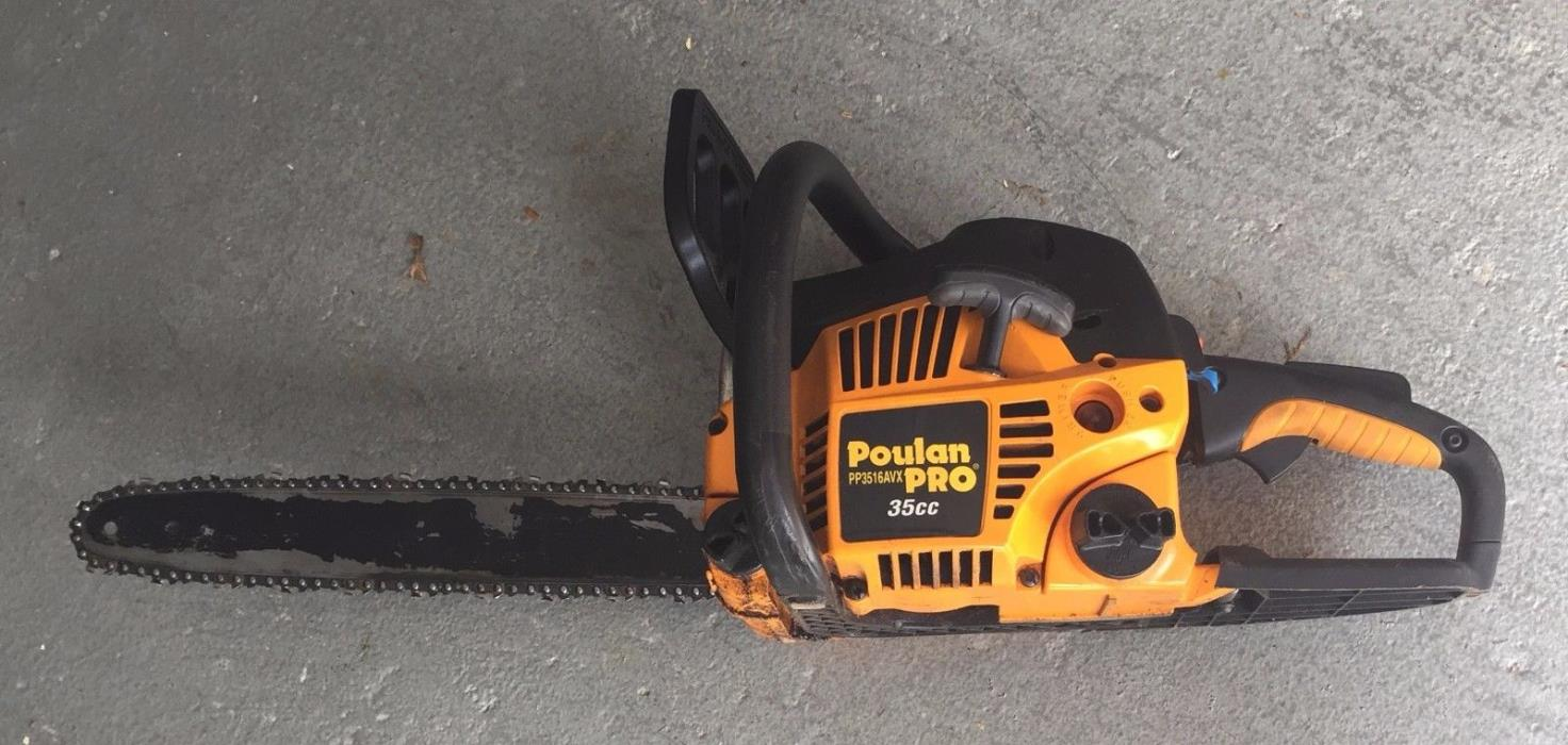 Used Poulan P3516AVX PRO Chainsaw 35cc 16