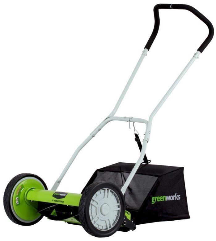 GreenWorks - Reel Lawn Mower with Grass Catcher