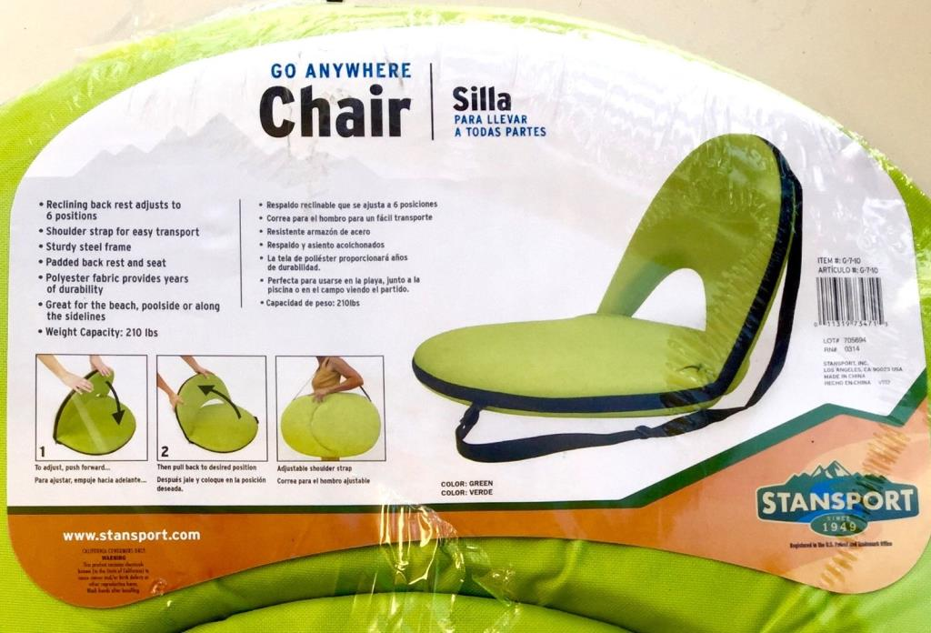 Go Anywhere Chairs X2 in Lime Green