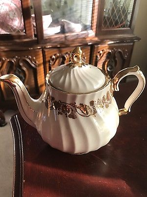 Gold Trim Hand crafted teapot