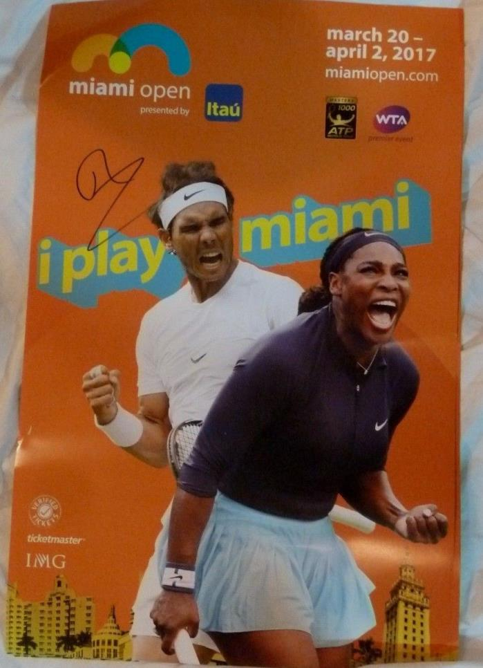 RAFAEL NADAL AUTOGRAPHED 2017 MIAMI OPEN POSTER