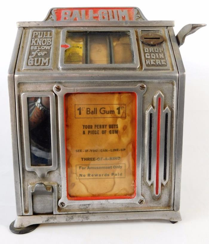 Antique cigarette slot machine