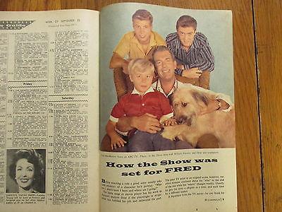 Sept. 1960 Boston Herald TV Magazine(DON GRADY/MY THREE SONS/FRED ASTAIRE/REBEL)