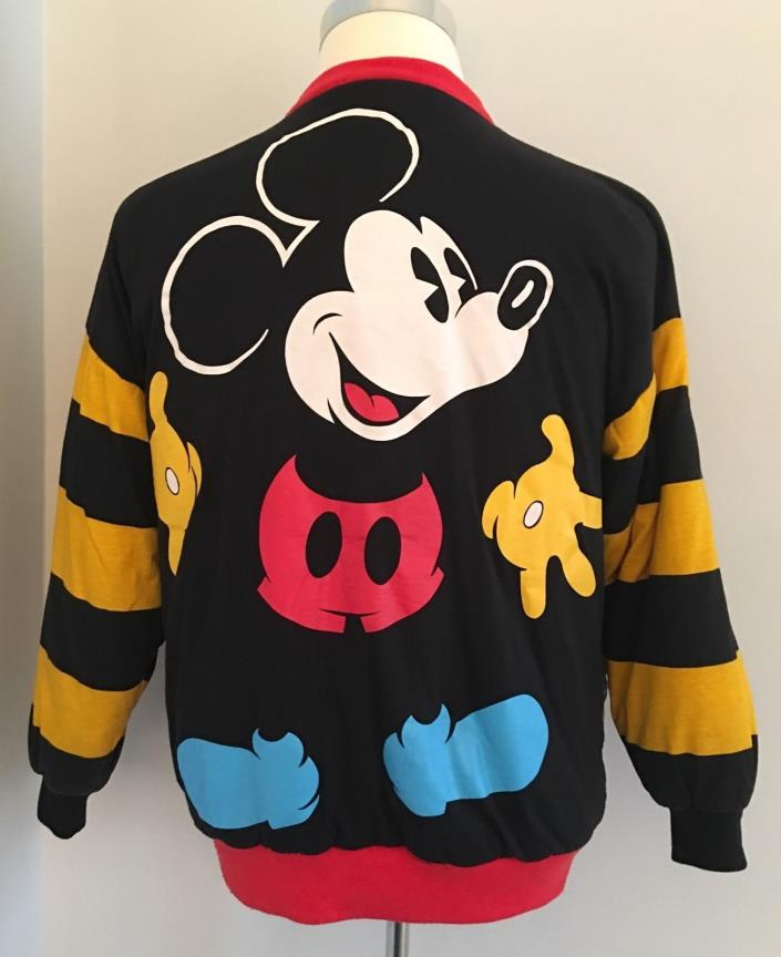 Vintage Mickey Mouse Don Kenny Reversible Bomber Winter Coat Jacket One Size