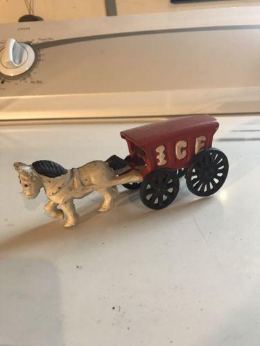 Cast Iron Horse Drawn Ice Wagon