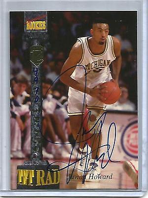 Juwan Howard 1994 Signature Rookies Tetrad Autograph #4970/7750