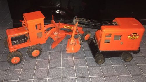 Marx Lumar Construction Pressed Steel Pair Power Grader Steam Shovel