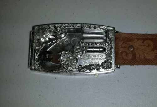 Vintage Mattel Remington Derringer Belt & Buckle ONLY