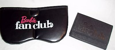 BARBIE FAN CLUB 2014 AND 2015 GIFTS-  LEATHER CARD HOLDER AND SOFT GLASSES CASE