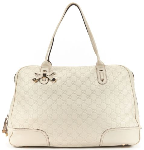 GUCCI Beige Guccissima Monogram Leather Shoulder Bag
