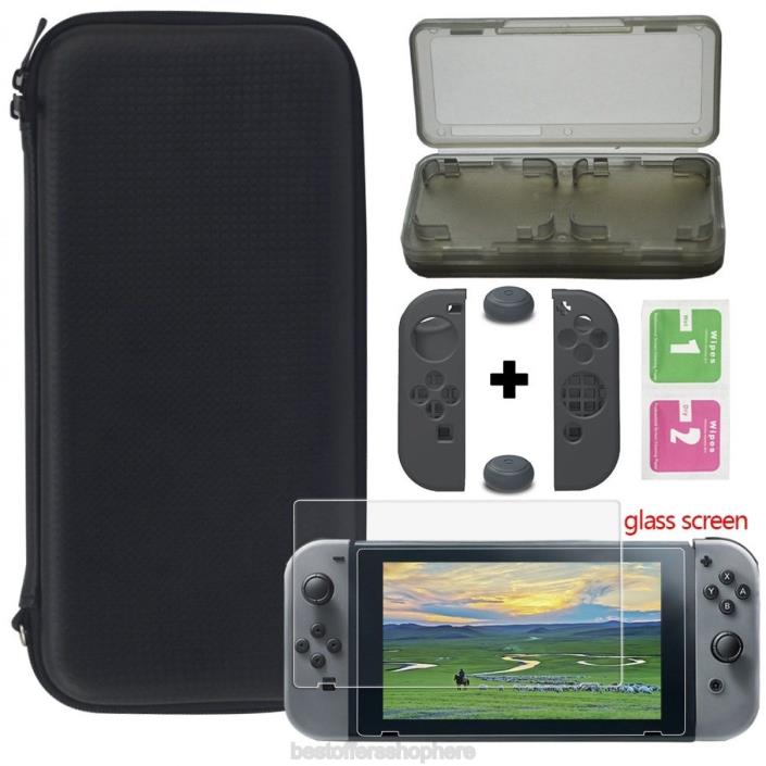 Nintendo Switch 2017 Carrying Case Deluxe Game Travel Screen Protector Soft Card