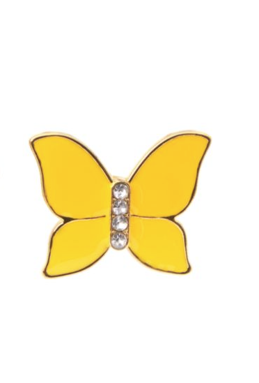 Gymboree NWT YELLOW AND BLACK gem butterfly ring sunshine yellow