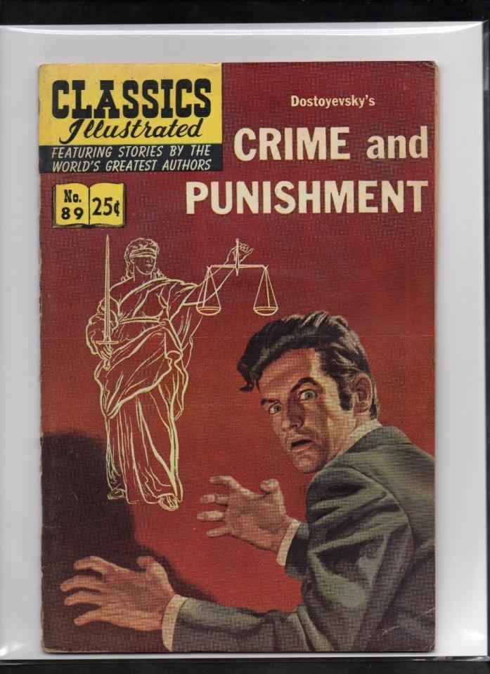 CLASSICS ILLUSTRATED #89 VG   HRN169 (CRIME AND PUNISHMENT) DOSTOYEVSKY