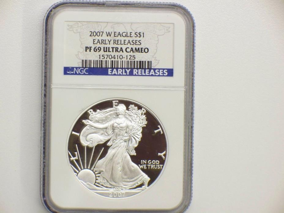 2007 W $1 Silver Eagle Proof NGC PF 69 Ultra Cameo Early Release