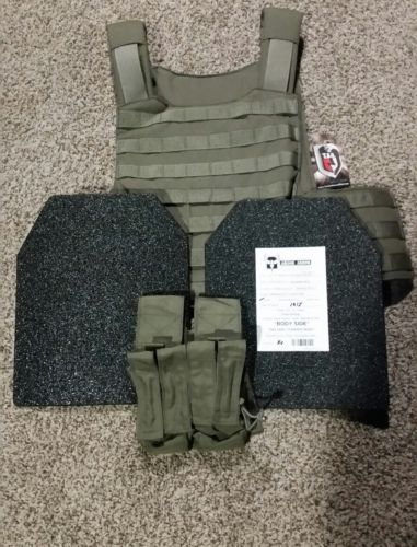 TAG Tactical Assault Gear plate carrier w/ AR500 curved Level 3 plates.