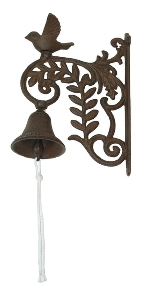 Rustic Country Farm House Cast Iron Wall Mount Bird Decorative Bell