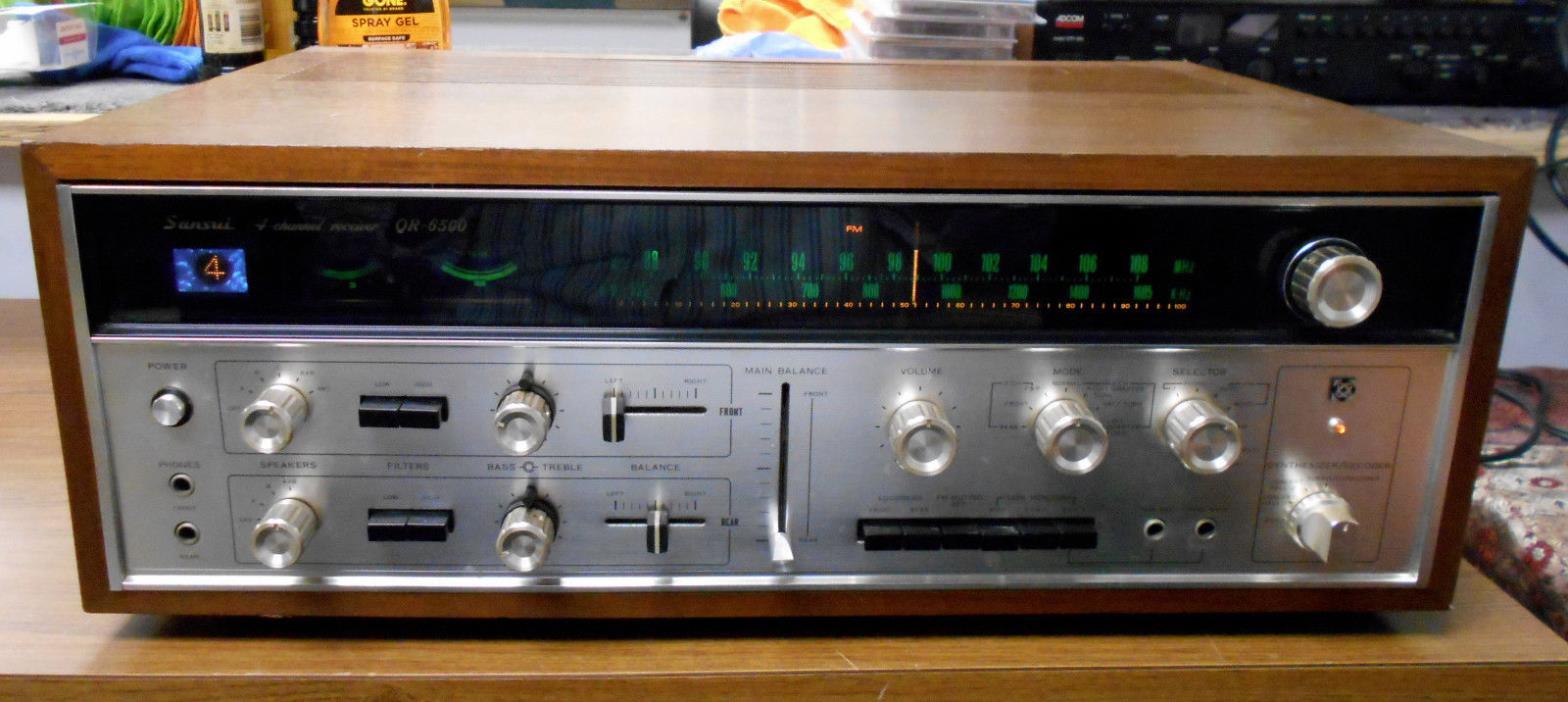 VINTAGE SANSUI QR-6500 4-CHANNEL STEREO RECEIVER SERVICED SOUNDS GREAT!