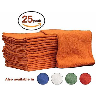 Auto-Mechanic Shop towels, Drying Pads Rags by Nabob Wipers 100% Cotton Grade &