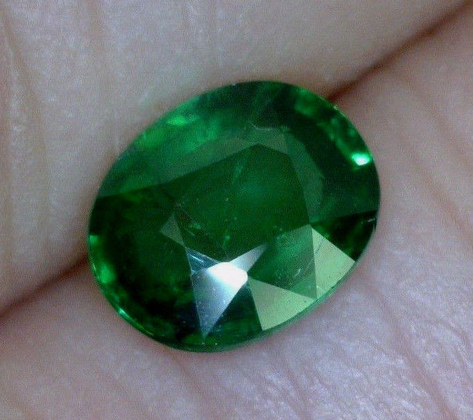1.60 OVAL NATURAL TSAVORITE GARNET, UNHEATED/UNTREATED, TANZANIA