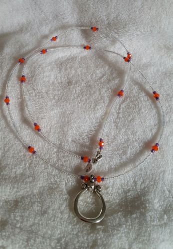 Orange, Purple, White Eye Glass Chain/Badge Holder 30