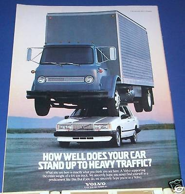 1988 Volvo car with 6 1/2 ton truck on top Ad
