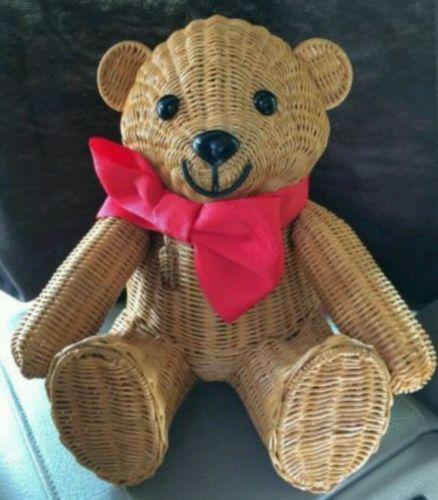 Kate Spade Wicker TEDDY BEAR handbag LTD EDITION,NWT, Christmas Bear! Very Rare