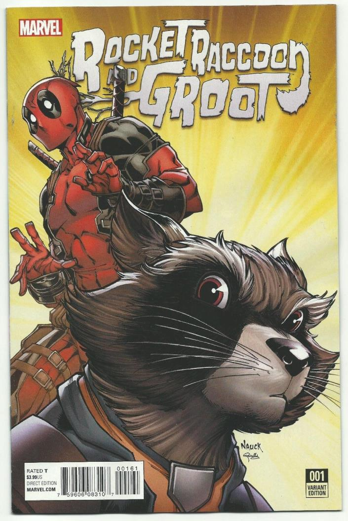 Rocket Raccoon and Groot 1 Deadpool 1:10 variant cover new hot