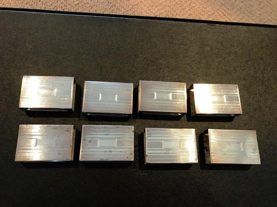 Antique Vintage Sterling Silver Match Box Covers (Lot of 8)