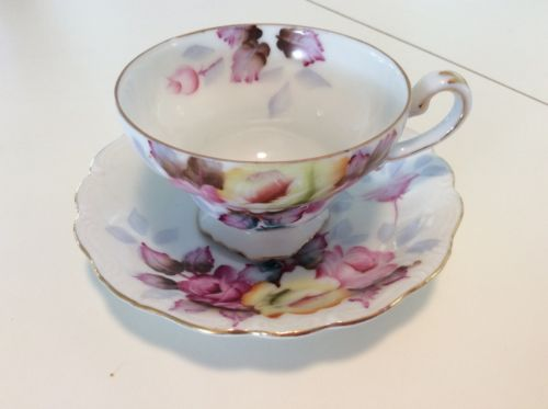 SAJI OCCUPIED JAPAN FANCY CHINA HAND PAINTED CUP & SAUCER