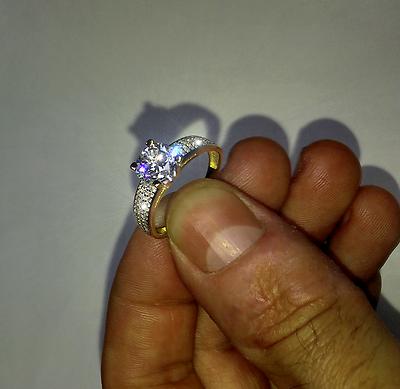 10K Yellow Gold Elegant Wedding or Engagement Ring