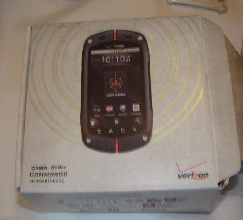 3G CASIO G'ZONE  COMMANDO C771 WATER PROOF CELL  PHONE   WITH  RED CASE