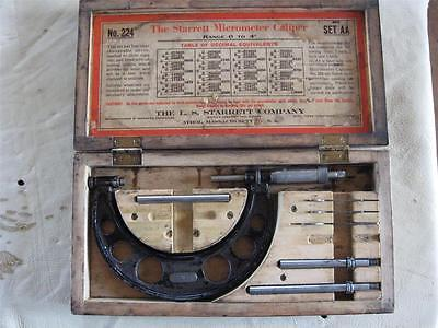 Vintage L.S. Starrett No.224 Micrometer Set (NR)