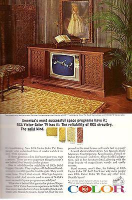 1965 RCA Color TV Television Retro Print Advertisement Ad Vintage VTG 60s