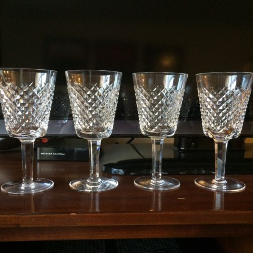 Waterford 'Alana' (4) Water Goblet GREAT Wedding Gift