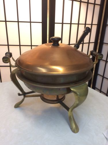 Antique Copper Fondue Pot