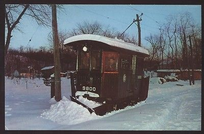 Snow Plow 9800 Branford Electric Railway Museum Train CT Railroad Postcard