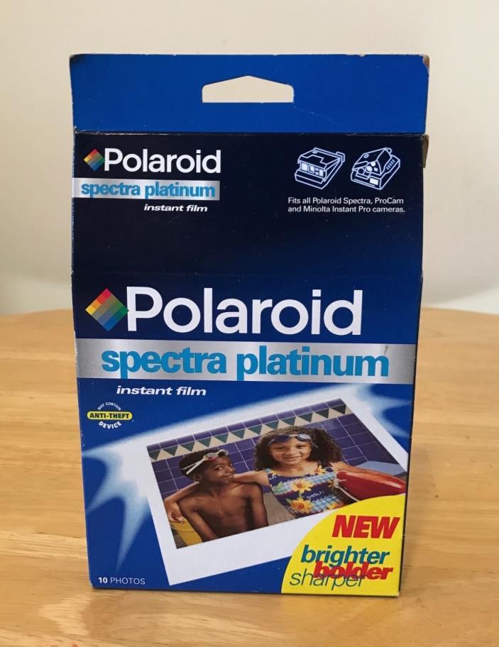Polaroid Spectra Platinum Instant Film, Sealed, Expired, 10 Pictures