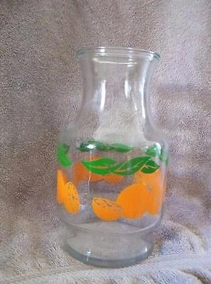 Vintage Anchor Hocking Orange Juice Carafe Pitcher