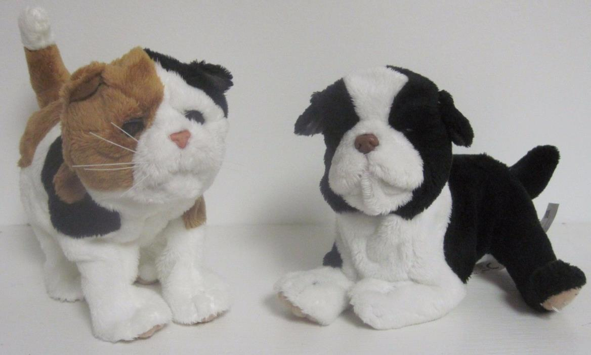 FURREAL FRIENDS KITTEN PUPPY WHITE BLACK TAN CALICO