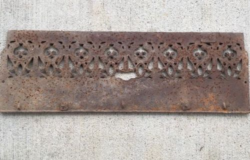 Antique Victorian Cast Iron Fireplace Heat Grate  25.5