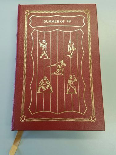 EASTON PRESS 'SUMMER OF 49' RED LEATHER BOOK BASEBALL COLLECTORS FREE US SHIP!