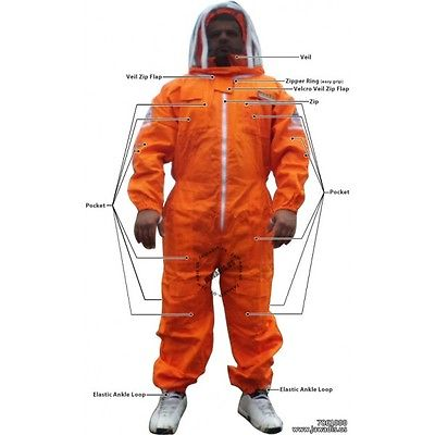 Orange Medium Jawadis Sting Clothing Bee Keepers Women's Bee Suits & Fence Veil