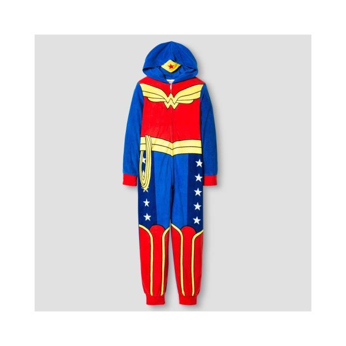 DC Super Hero Girls Blanket Sleeper Pj - blue / red size XS, S Brand NEW!