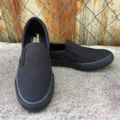 SFC Ollie Shoes For Crews Slip On Shoes Black Non Slip Restaurant Women's 7