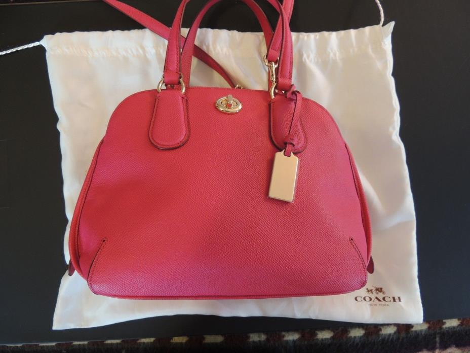 COACH CLASSIC HOT PINK LEATHER CROSS BODY PURSE