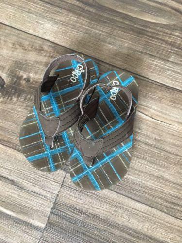 Boys Circo Toddler Brown Sandals With Ankle Strap Size 8