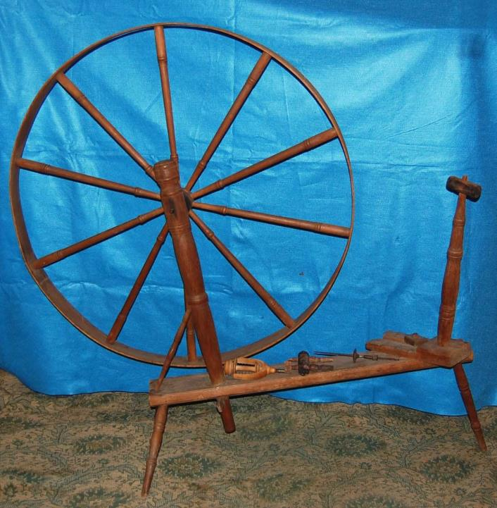 Vintage Large Spinning Wheel and Yarn Winder