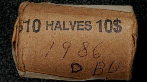 1986 Denver Kennedy Half Dollar Roll